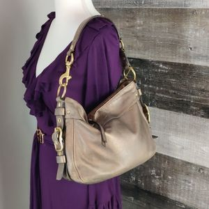 Coach Bags - bronze coach leather hobo bag